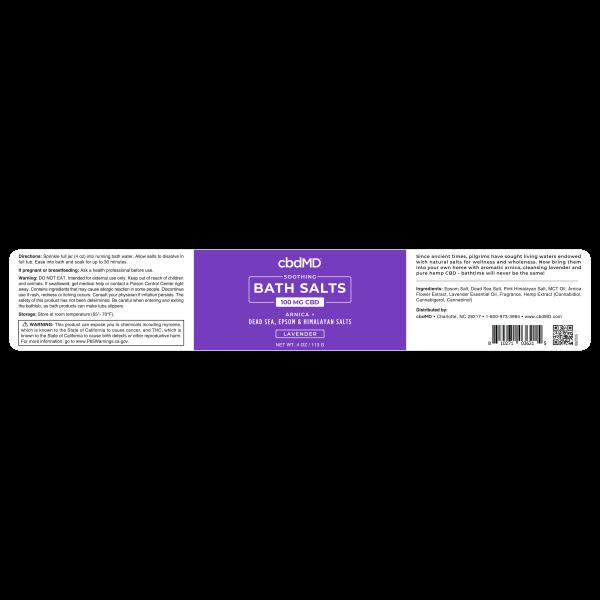CBDMD Bath Salts 3 Pack 4OZ 300MG