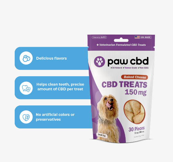 Pet CBD Oil Treats for Dogs Hard Chews- 150/300/600 MG - 30 COUNT