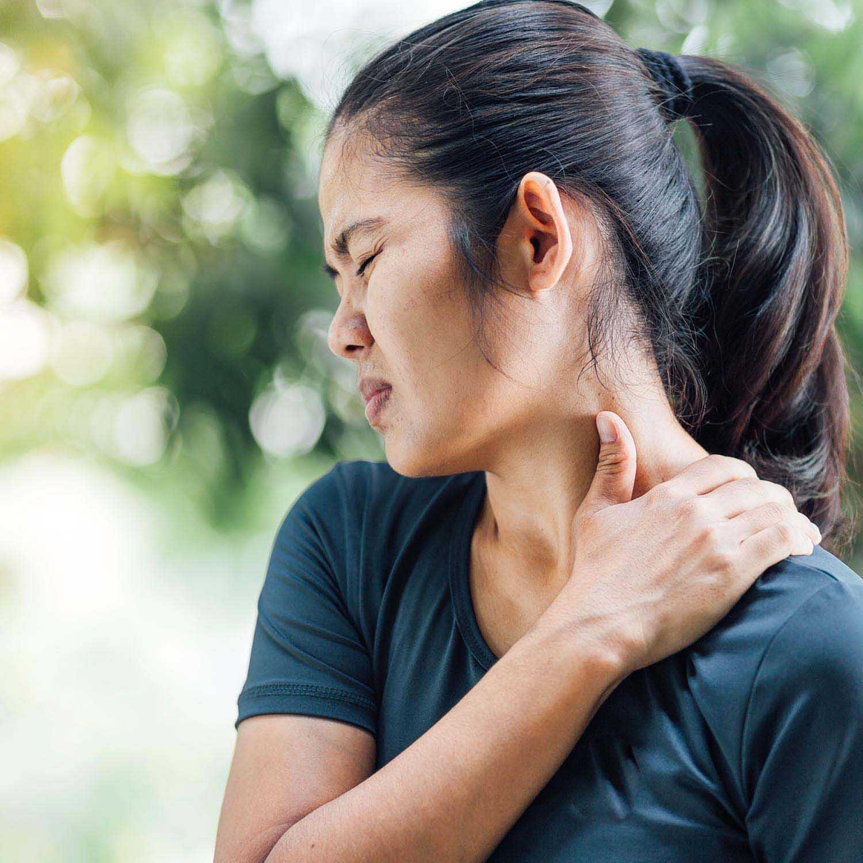 women in pain