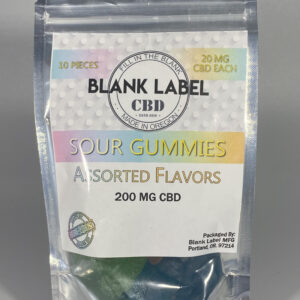 CBD Sour Gummies Assorted Flavors
